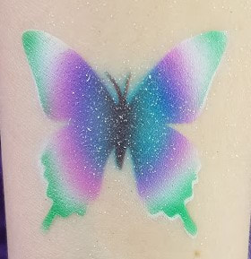 butterfly airbrush tattoo tie dye