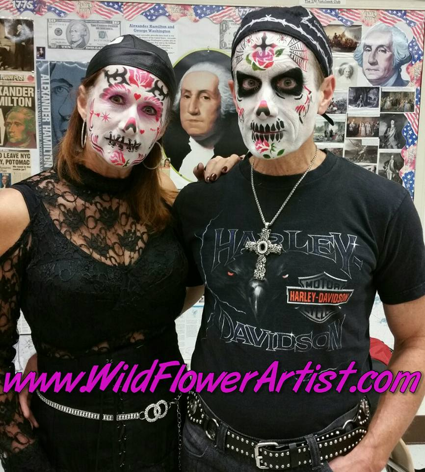 Day of the Dead sugar skulls makeup