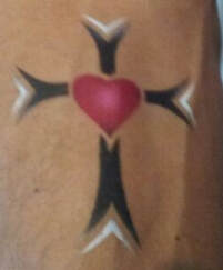 airbrush tattoo cross