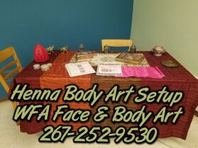 Face and Body Art Setup & Presentation Gallery