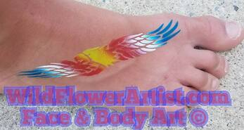 flying eagle airbrush tattoo