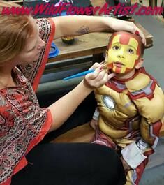 Iron Man Face Painting