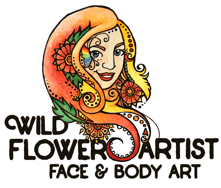 Wild Flower Artist WFA Face and Body Art Linda Logo